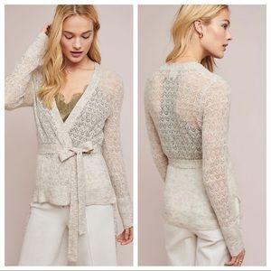🆕NWT Merino Wool & Alpaca Pointelle Cardigan